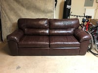Brown faux leather couch $120 or best offer! Oklahoma City, 73120