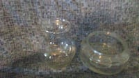 two clear cut glass bowls Kimball, 48074