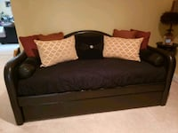 brown wooden bed frame with mattress Fort Washington, 20744