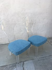 Lucite mid century modern chairs Long Beach, 90808