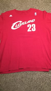 Red and white adidas cleveland cavaliers 23 crew-neck shirt Nutley, 07110