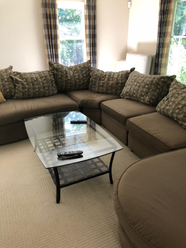 Sectional Sofa and Table