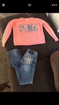 PINK sweater & Miss Me pants!