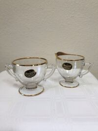 """Vintage It's a """"Dilly"""" by Gailstyn 22 KT. Gold Sugar and Creamer Phoenix, 85042"""