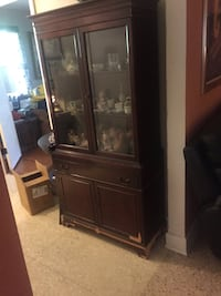 Brown wooden framed glass display cabinet Harahan, 70123