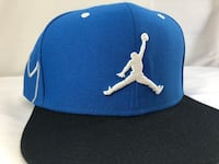 blue and white Air Jordan fitted cap New York, 11358