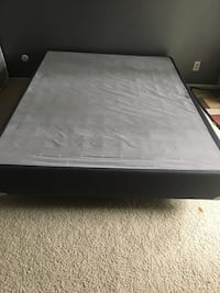 Queen size box spring plus metal frame with wheels Walnut Creek, 94598