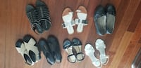 six pairs of assorted shoes Oakville