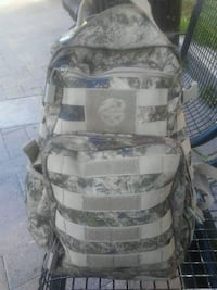 gray and brown camouflage backpack 2410 mi