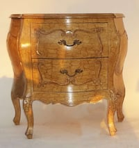 used small solid wood two drawer dresser nightstand sid for sale in irvine letgo. Black Bedroom Furniture Sets. Home Design Ideas