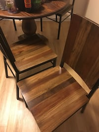 Brown wooden table with chair 43 km