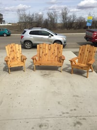 Adirondack style chairs and love seat