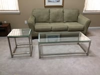 CRATE & BARREL ERA RECTANGULAR GLASS COFFEE TABLE AND SIDE TABLE Maryland Heights