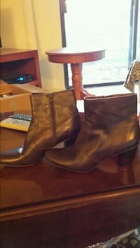 pair of brown leather boots Raleigh, 27613