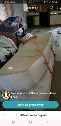 King size mattress pillow top decent condition Wareham, 02571