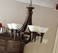 brown and white uplight chandelier Rosemère, J7A 3K9