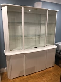 White Lacquer framed glass display cabinet Newmarket, L3X 1V6