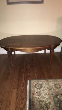 Ethan Allen Oval brown wooden coffee table Nutley, 07110