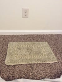 white and gray area rug