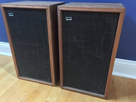 Sansui AS-100 2-Way Vintage Home Theater Front Floorstanding Tower Surround Sound Speakers