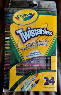 Pack of 24 Twistable coloured pencils Montréal