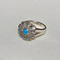 Genuine Navajo Sterling Silver Turquoise Ring Ashburn
