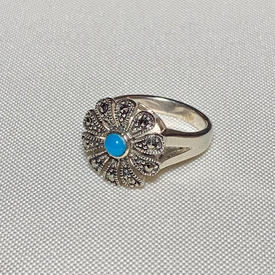 Genuine Navajo Sterling Silver Turquoise Ring