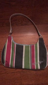 Blue, green, and red leather crossbody bag Westbury, 11590