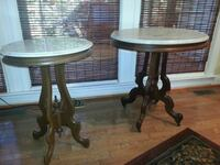 2 Victorian antique marble top tables Spotsylvania Courthouse, 22551