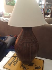 Wood carved table lamp Alhambra, 91801