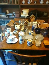 Variety of jars and country kitchen items Augusta