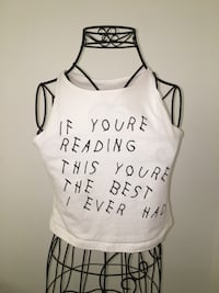 white and black tank top Coquitlam, V3J 7H4