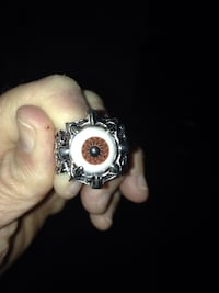 Size 10 Stainless Steel Eyeball Claw Ring