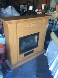 brown and black electric fireplace Surrey, V3R