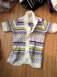 white and purple stripe knit vest Potomac, 20854