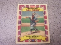 RARE - KELLOGGS FROSTED FLAKES - PHIL NIEKRO 3D card Vaughan