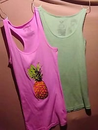 two assorted tanktops