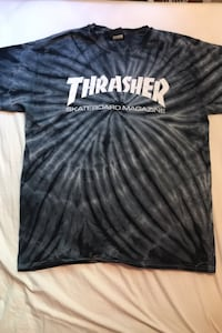 Thrasher dark coloured tye-dyed t-shirt Winnipeg, R2N 3T6