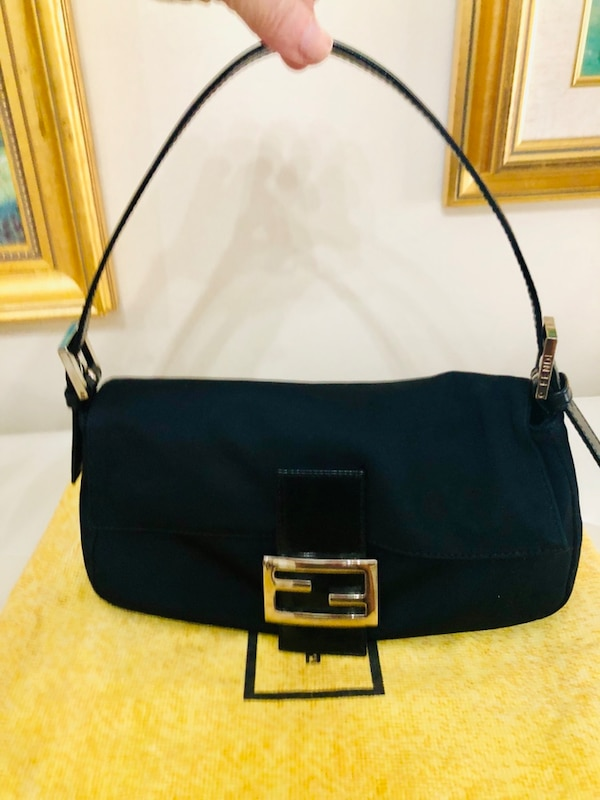 9364680595df Used Original Black FENDI BAGUETTE WITH Silver Hardware and leather  trimmings for sale in Coral Springs