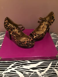 Black and brown leopard print pump shoes Hamilton, L8E