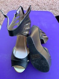 Black high wedge heel shoes Charlotte Russe size 8 Henderson, 89074