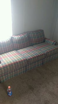 red and white plaid fabric sofa Jacksonville, 28546