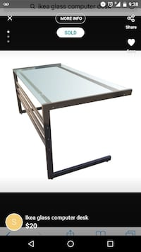 Glass desk great condition Surrey, V3T