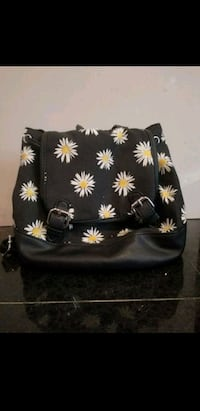 black and white floral tote bag Ventura, 93003