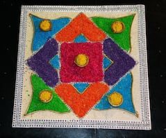 Rangoli for Weddings or decoration.  Request CUSTOM styles