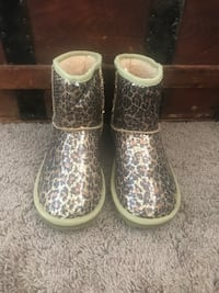 Sequin Leopard Ankle Boots San Diego