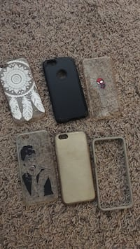 six assorted-color iPhone cases Merced, 95348