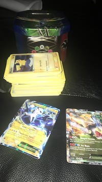 100+ cards and 2 rare ex's