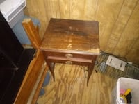 Antique two drawer side table for couch