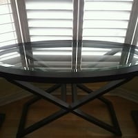 Oval Glass top Console
